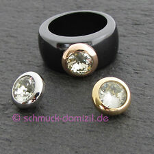 Melano-magnetic adaptador para Ring - 10 mm-Citrine-acero inoxidable