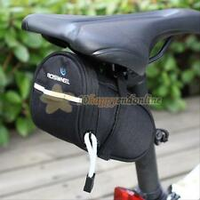 ROSWHEEL Outdoor Bicycle Cycling Saddle Bag Tail Rear Pouch Seat Storage Black