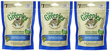 (3) FELINE GREENIES TUNA FOR CATS. 2.5OZ BAGS