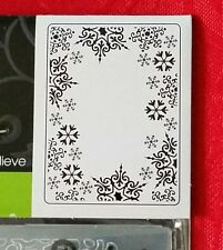 "DARICE EMBOSSING FOLDER- SNOWFLAKE TRIM - 4.25"" X 5.75"" - 1219-135 CHRISTMAS"