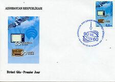 L'Azerbaigian 2016 FDC RADIO 90 anni & televisione 60 anni IV COVER SET