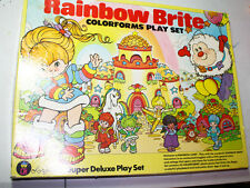 RAINBOW BRITE Colorforms Rainbow Land  SUPER RARE vintage deluxe play set