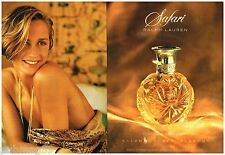 Publicité Advertising 1992 (2 pages) Parfum Safari par Ralph Lauren