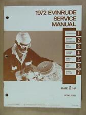 1972 OMC EVINRUDE 2 HP MATE 2202 OUTBOARD MOTOR SERVICE REPAIR MANUAL 506669
