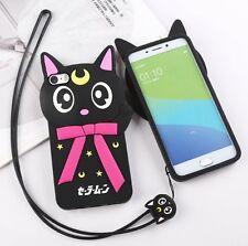 Bid 1PC iPhone 5 SE 3D Cute Luna Cat Soft Silicone Case Cover Back Skin