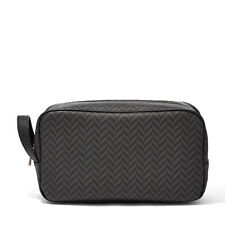 Fossil Camden Travel Shave Kit Toiletry Case Makeup Bag Charcoal Zipper