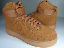 Womens Nike Air Force 1 Hi Suede Tawny Flax Wheat SZ 8 (749266-201)