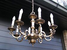 *** Very nice vintage french 8 light bronze ? chandelier  ****