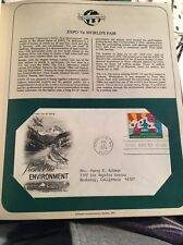 1974 Expo '74 World's Fair FDC,  Preserve the Environment
