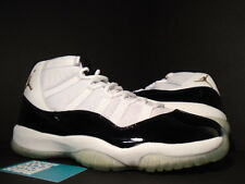 2005 Nike Air Jordan XI 11 Retro DMP WHITE BLACK GOLD CONCORD 136046-171 DS 11