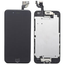 """Black LCD Touch Digitizer Screen + Home Button Assembly Parts for iPhone 6 4.7"""""""
