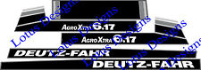 Deutz Fahr AgroXtra 6.17 stickers / decals