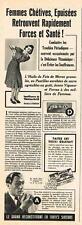 PUBLICITE  ADVERTISING   1940   JESSEL  pastilles  huile de foie de morue