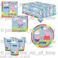 PEPPA GEORGE Pig Birthday Party Tableware Plates Cups Napkins Tablecover