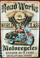 MOTER BIKE Tin Metal Sign Rustic Look .. MAN CAVE . brand new. AU SELLER