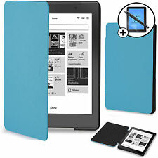 Forefront Cases® Blue Smart Case Cover Kobo Aura Edition 2 Screen Prot & Stylus