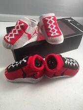 Nike Air Jordan 0-6 Months Baby Booties Infant Newborn Blue 2 Pair Gift