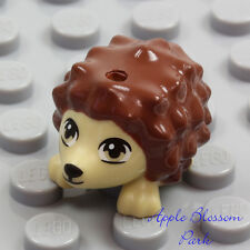 NEW Lego Minifig HEDGEHOG Girl Friend Pet Animal Reddish Brown Tan Statue Figure