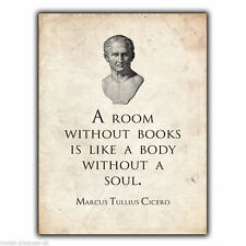METAL SIGN WALL PLAQUE Cicero Tully Roman Philosophy Book Quote print poster