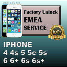 PREMIUM Unlock Service EMEA iPhone 4 4s 5 5c 5s SE 6 6+ 6s 6s+ 7 ALL IMEI