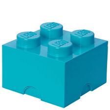 LEGO Storage Brick Box 4 - Medium Azure - New - Storage - Kitchen
