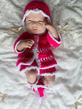 "New hand crocheted doll outfit - 14/15"" berenguer doll/cupcake 79"