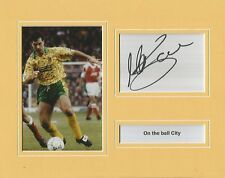 A 10 x 8 inch mounted display personally signed by Mark Bowen of Norwich City