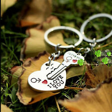 """I Love You"" Heart+Arrow + Key Couple Ring Keyfob Keyring Key Chain Lover Gift"