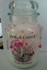 Happy birthday candle necklace fits yankee medium or large jar