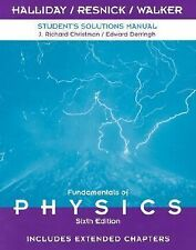 G, Student Solutions Manual to Accompany Fundamentals of Physics 6th Edition, In