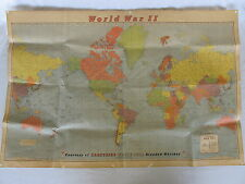 World War 2 Map Carstairs White Seal Blended Whiskey 42 inches by 28 inches WW2