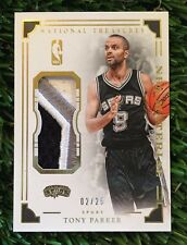 2015-16 PANINI NATIONAL TREASURES TONY PARKER NBA MATERIAL PATCH #D /25