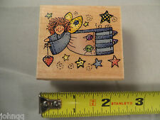 Crafts Rubber Stamp - Hero Arts - Quilter's Angel - E1155