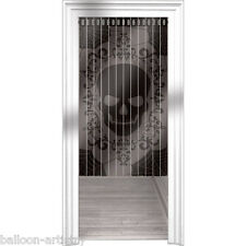 1.65m Haunted Halloween Horror Sinister Skull Lace Door Curtain Decoration