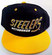 NEW! NFL PITTSBURG STEELERS  EMBROIDERED SNAP BACK CAP