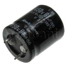 New Snap In 2 Pin Capacitor 450V 68UF 22mm Diameter 25mm Height