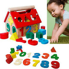 Blocks House Kids Intellectual Developmental Building Educational Toys Baby Wood