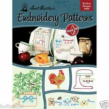 Kitchen Designs Aunt Martha's Hot Iron Embroidery Transfers Booklet #400
