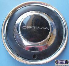 OPTIMA, CHROME PLASTIC CAP, BLACK PLASTIC RING, 1 SCREW HOLE, HEX CENTER,