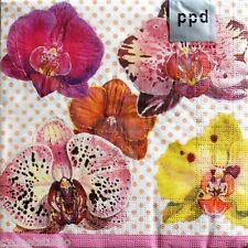 ppd Luncheon Paper Decoupage Napkins Set of 20 - Orchid Flight