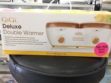Gigi deluxe double wax warmer with 2 waxes 25490