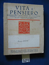 VITA E PENSIERO rassegna italiana di cultura 1929