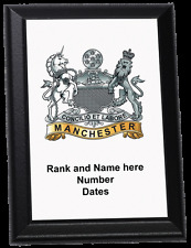 Personalised Wall Plaque - The Manchester Regiment (up to 1922)