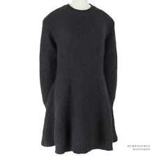 Stella McCartney Charcoal Grey Alpaca Wool Knitted Sweater Dress IT44 UK12
