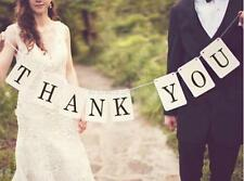 THANK YOU Rustic Wedding Decor Vintage Bunting Garland Banner Photo Props
