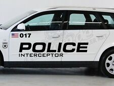 1x XXL Aufkleber Set US Police Car Cop Polizei Fun Sticker Shocker Winterauto