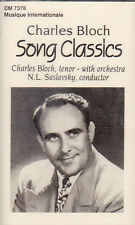 Charles Bloch - Song Classics (Cassette, 1996, CM-7378) NEW Cantor