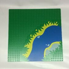 Vintage Lego Base plate #2359px3 From Sets 6278 , 6292 Green River Pattern