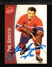 Molson Export Phil Goyette Autographed Card #20 Montreal Canadiens