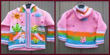 Strickjacke rosa Kinderjacke Kapuzenjacke cardigan kids Peru neu Göße 80/86